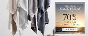 Sheridan UK Luxury Quick Dry towels 70% off!! Bath Sheet £11.20 Free P&P