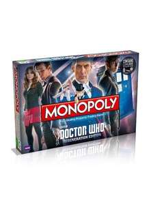 Dr Who Regeneration Monopoly - Winning Moves Shop - FREE DELIVERY - RRP £29.99
