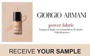free Giorgio Armani power fabric sample-5ml