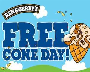 Ben & Jerry's Free Cone day is April 4th this year