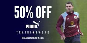 50% Puma training wear Burnley FC and more - Home shirts from £20 @ Clarets Store, Burnley