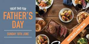 Free father's day pint at black horse