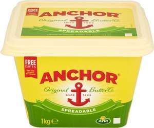 Anchor Spreadable (1Kg) was £5.60 now £4.00 @ Sainsbury's