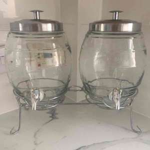 double glass summer drinks dispenser 9 litres £19.99 @ The original factory shop - Basildon