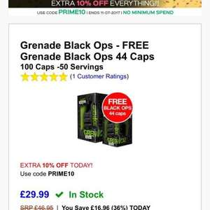 144 Grenade Thermo Supplements - £26 with code at Discount Supplements