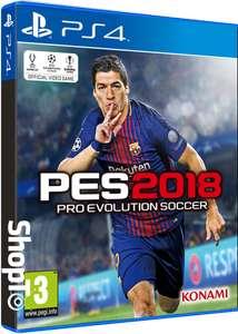 Pro Evo 2018 PS4 £29.86 @ shopto.net