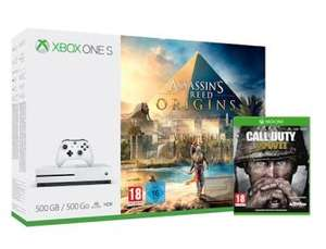 Xbox One S Console 500GB with Assassin's Creed Origins (or Forza Horizon 3) & COD WWII £198.99 @ Grainger Games