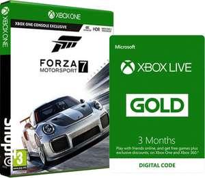 Forza Motorsport 7 + Xbox Live Prepaid 3 Month Membership + Free Xbox Live Prepaid 3 Month Membership + Red Race Suit + Yellow Race Suit £48.85 @ ShopTo