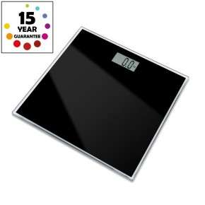 Black (or blue) toughened glass bathroom scales. RRP £19.99, Tooltime £6.99 inc delivery