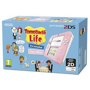 Nintendo 2DS Pink/ White Console with Tomodachi - £79.99 @ Nintendo