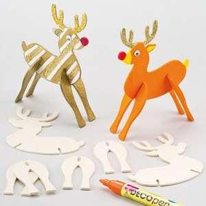 Wooden Reindeer Kits - Decorate your own Rudolf £1.49 @ Baker Ross