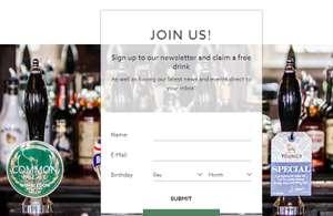 Free drink at The Alexandra pub (Wimbledon)