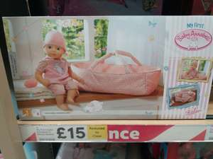 Baby Annabell dolls basket @ Tesco in-store sale was £30 now £15