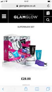 Gift sets reduced from £40 - £23.40 @ Glam glow