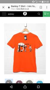 Banksy t-shirt 'i am your father @8ball.co.uk - £13.59 Delivered