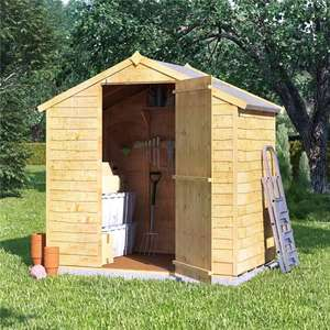 Overlap shed 4x6 Rustic Windowless ( No Felt, no floor) £114 / £119 delivered @ Garden buildings direct