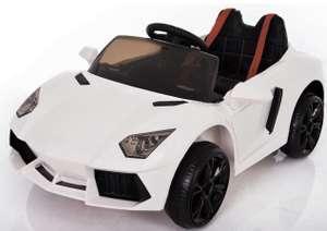 LAMBORGHINI AVENTADOR STYLE 12V RIDE ON CHILDREN'S ELECTRIC CAR. Was £199.95 now £99.95 delivered @ Fun4Kids