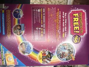 Grown up go free to Top Attractions with paying child or adult when you buy Kellogg's cereal @ Tesco