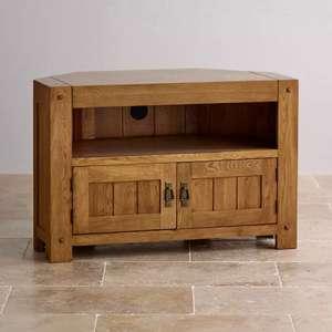 Solid Oak Corner TV unit - £179.81 @ Oak Furniture Land