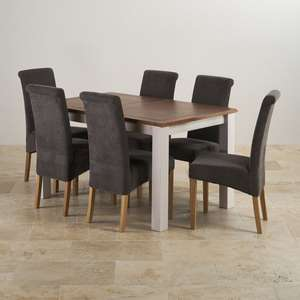 Oak table with 6 chairs £628.15 with code @ Oak Furnitureland