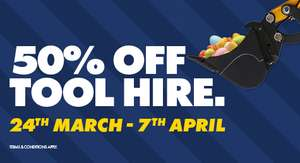 50% off tool hire over Easter @ Jewsons - Online and instore