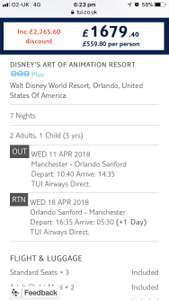 April 2018 Disney World Florida Holiday - Art of Animation Resort £559.80pp @ TUI