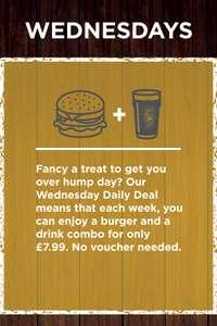 Burger & Pint £7.99 @ Stonehouse Restaurants