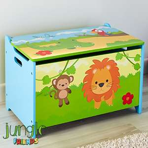 Jungle Friends: Wooden Toy Box £22.99 @ home bargains free c/c