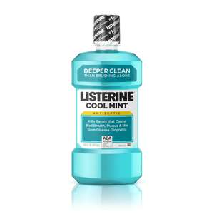 LISTERINE® Antibacterial Mouthwash - Cool Mint (250ml) only 95p Delivered with Subscribe & Save / or  £1 Add-on Item @ Amazon