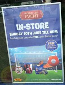 FREE Panini Sticker Packs and hourly prize draws @ Smyths