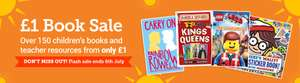 £1 Book Sale at Scholastic - Postage is £3 per 50 books