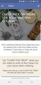 Free Pina Colada Today at Young's Pubs With App