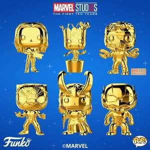 Marvel 10th Anniversary Gold Chrome Funko Pop Vinyl £9.99 + £1 Dellivery from Forbidden Planet