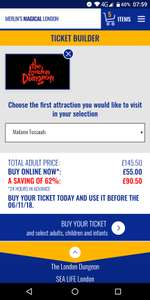 Plan to Visit London Attractions ??? 5 Attractions for £55 or 2 Attractions for £36 via Merlin Magical London Pass (More Info in OP)