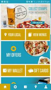 FREE MEAL (Pizza or carvery) with the purchase of a drink @ Stonehouse Restaurants - via Stonehouse app