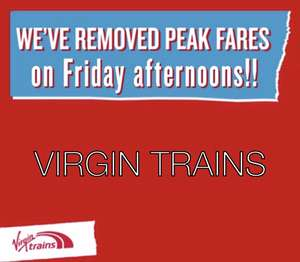No more Friday afternoon Peak train fares on Virgin Trains