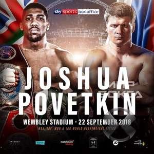 Anthony Joshua vs Alexander Povetkin Live at Wembley - 22/09 - £40 via Stubhub