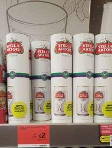 Stella Artois Wimbledon Tube - 2x 330ml beers + Tennis ball £2 @ Salford Sainsburys