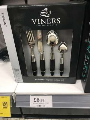 Viners fondant 16pc cutlery set in black and red £6.99 @ home Bargains