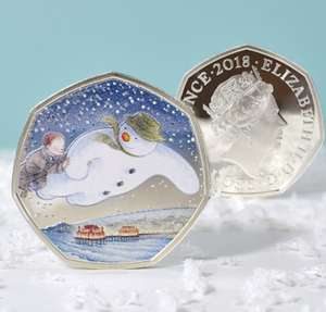 Royal Mint The Snowman 50p Coin - Personalised Box! £89.99 + £3.99 del at IJustLoveIt