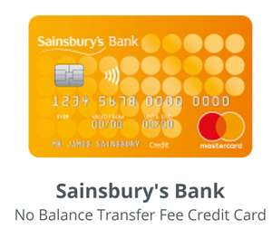 No Balance Transfer fee and 0% Interest Fee Credit Card (26 months) @ Sainsburys Bank