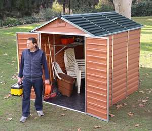 Palram Skylight Amber 6x8ft Polycarbonate Shed £398.99 delivered using 5% off everything code @ Garden Site (See OP for 6x10ft  Model)