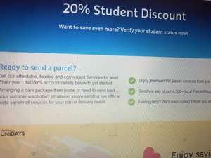 My Hermes courier 20% student discount