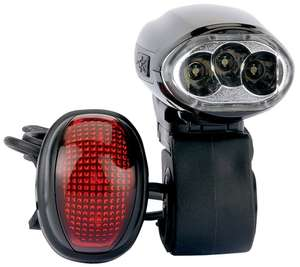 Draper 3 LED Wind Up Bicycle Light Set - £4.99 @ Tooltime