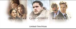 Many TV shows on sale on iTunes (including HBO, Showtime, BBC, ITV, Channel 4 etc)