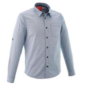 QUECHUA Travel 100 Warm Men's Shirt Blue - £4.99 @ Decathlon - free c&c