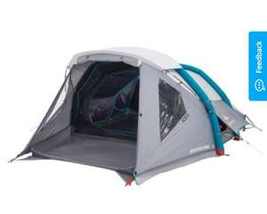 4 Person inflatable tent: QUECHUA AIR SECONDS 4 XL FAMILY CAMPING TENT - Half price at Decathlon - £99.99