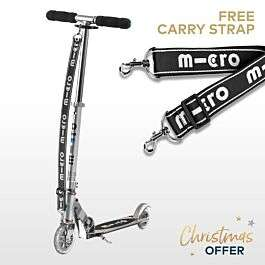 MICRO SPRITE SCOOTER SILVER WITH CARRY STRAP-Best price - £89.95 @ Micro-Scooter