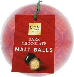 Marks and Spencer Dark Chocolate Malt Balls 90g - £3 down to 10p