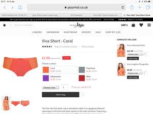 Pourmoi.co.uk Big Savings On Lingerie & Nightwear £3.50 delivery Starting at £1.50 for panties